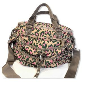 George Gina & Lucy Diaper Travel Bag Leopard Print